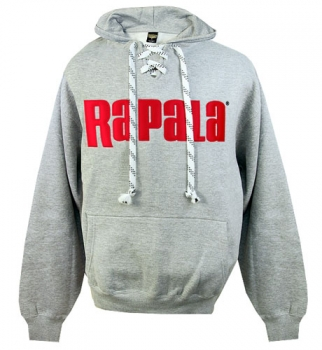 Rapala Hoodie Grey with Red Patch